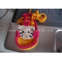 Buy cheap Yellow Shoelace Knitted Baby Sandals Crochet Red Sweet Kitty Cat Shape Pattern from wholesalers