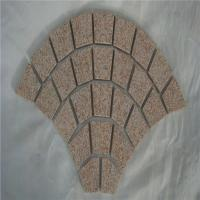 Buy cheap China Fan Pattern Stone Yellow G350 Granite Cobblestone on Mesh for Driveway Paver from wholesalers