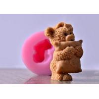 Buy cheap Cute Bear Microwave Silicone Taper Candle Molds Easy To Release Recyclable from wholesalers