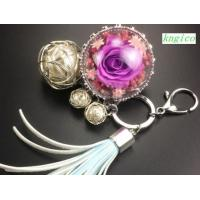 Buy cheap PW002 Preserved flower key bag pendant Christmas gift from Wholesalers