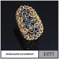 Buy cheap R7575 Big Size Artificial Gold Plated Jewelry from wholesalers