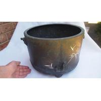 Buy cheap Antique Japanese Bronze Hibachi w. Inlaid Silver Bamboo Pattern - Planter Pot from wholesalers