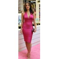 Buy cheap Halter Fashion Bandage V Neck Dress Backless Rayon Nylon Spandex Material from wholesalers