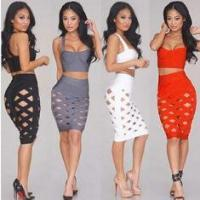 Buy cheap Low Cut Two Piece Bandage Set , Breathable Two Piece Dresses For Club from wholesalers