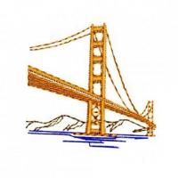 Buy cheap San Francisco Golden Gate Bridge Embroidery Design from wholesalers
