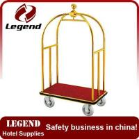 Buy cheap Flexible lightweight used hotel baggage trolley from wholesalers