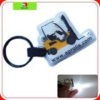 Buy cheap cheap full color printing LED Torch keychain ,pvc torch keychain, plastic torch from wholesalers