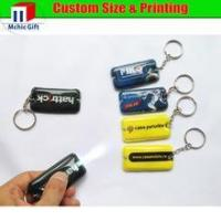 Buy cheap customized full color print promotional pvc led keychain ,mini flashlight product