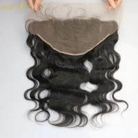 Buy cheap Lace Frontal brazilian human hair, 150% hair density from wholesalers