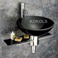 Buy cheap Bathroom tempered Glass Vessel Sink & Vanity + Faucet HCP32 from wholesalers
