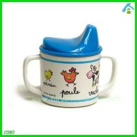 Buy cheap Printed Plastic Cup For Kids , Melamine Cups With Handles And Straw from wholesalers