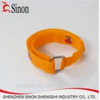 Buy cheap Customer Print Logo Metal Buckle Hook And Loop Strap from wholesalers