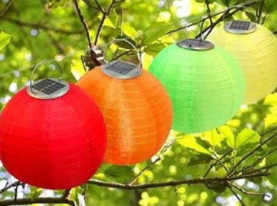 Quality Holiday decoration solar Chinese lantern light for sale