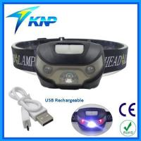 Buy cheap 5 Light Mode USB Rechargeable CREE LED Headlamp with White and Red Lights from wholesalers