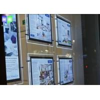 Buy cheap Indoor Crystal LED Estate Agent Window Displays Slim Lightbox Energy Saving from wholesalers
