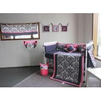 Buy cheap Popular Black Flower Design Baby Bedding Crib Set 4-14PCS With Different Accessory Selection from wholesalers