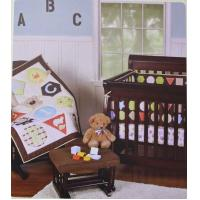 Buy cheap ABC Alphabet Letters And Geometric Design Unisex Baby Crib Bedding Set from wholesalers