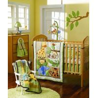 Buy cheap Animal World Green Color Theme Baby Boy Bedding 9PCS Crib Set from wholesalers