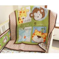 Buy cheap Discount Elephant Giraffe Monkey Tiger Animal Baby Crib Bedding Set Including Bumper Pad from wholesalers