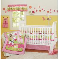 Buy cheap Pink Reactive Print Cotton Animal Zoo Designs Baby Girl Bedding Set from wholesalers