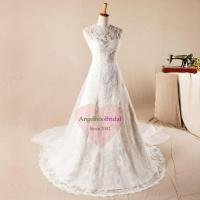 Buy cheap Plus Size Vintage Lace Wedding Dresses with Long Sleeves WD1562 from wholesalers