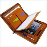 Buy cheap Leather Portfolio Binder Can Be With Zipper from wholesalers