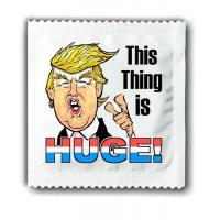 Buy cheap donald trump huge condom president ads funny promotion from wholesalers