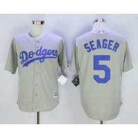 Buy cheap Los Angeles Dodgers No.5 Corey Seager Grey Jersey from wholesalers