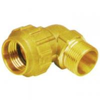 Buy cheap Forged brass elbow cw614n brass compression fitting for MDPE pipes from wholesalers