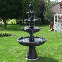 Buy cheap Sunnydaze 4-Tier Grand Courtyard Fountain - Black Color from wholesalers