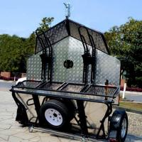Buy cheap Alumminum Checker Plate Floor Double Motorcycles Folding Trailer from wholesalers