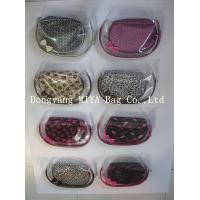 Buy cheap three-piece promotional clear zipper pvc cosmetic bag pouch from wholesalers