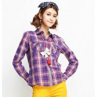 Buy cheap Lady Vintage Plaid Blouse from wholesalers