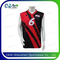 Buy cheap red and black design basketball uniform from wholesalers