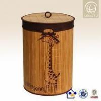 Buy cheap ware collapsible natural bamboo laundry basket with lid from wholesalers