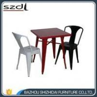 Buy cheap new design colorful metal dinning table TMT-001 product