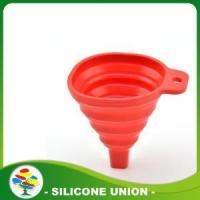 Buy cheap Custom Color Kitchen Food Grade Silicone funnel from wholesalers
