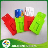 Buy cheap Red and Green Silicon Phone Card Holder product
