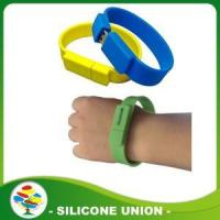 Buy cheap Personalized Silicone USB Bracelet from wholesalers