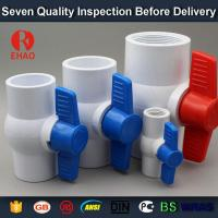 "Buy cheap 2"" PVC round compact ball valve thread ends ,plastic ball valve manufacture from wholesalers"