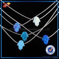 Buy cheap lady's hamsa opal necklace jewelry 925 sterling silver twist chain from wholesalers