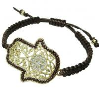 Buy cheap Bangles & Bracelets Hand-woven Hamsa Bracelet 5 Colours from wholesalers