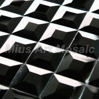 Buy cheap Black glass mosaic mirror D11272 product