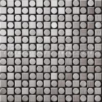 Buy cheap Square round stainless steel metal mosaic tle C5A220 from wholesalers