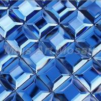 Buy cheap Blue glass tiles mirror crystal glass mosaic tile for kitchen... from wholesalers