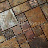 Buy cheap China Bronze copper mosaic tiles metal kitchen tiles A6YB127 from wholesalers
