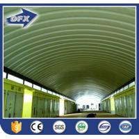 Buy cheap Galvanized Arch Roof Prefabricated Steel Structure Aircraft Hangar from wholesalers