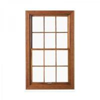 Buy cheap solid wood push up down vertical sliding windows product