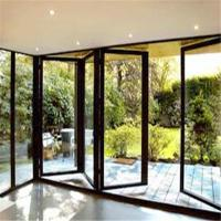 Buy cheap Balcony folding patio double glass doors from wholesalers