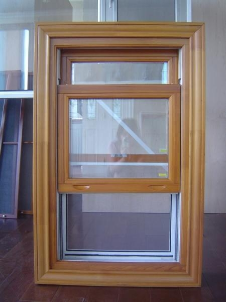 Buy cheap Wooden frame double hung window glass replacement from wholesalers